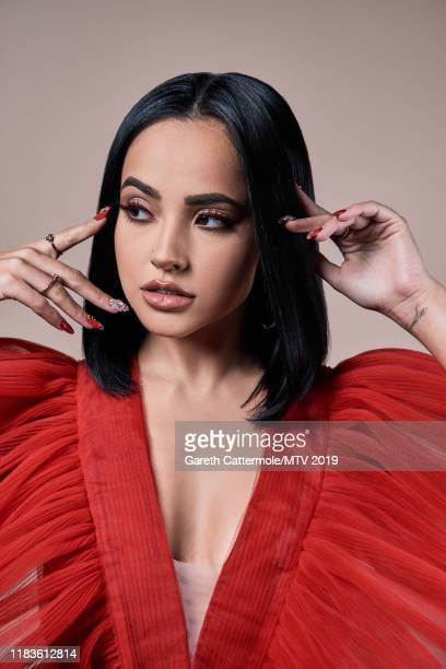 Singer songwriter and actor Becky G poses for a portrait at the MTV EMAs 2019 studio at FIBES Conference and Exhibition Centre on November 3 2019 in...