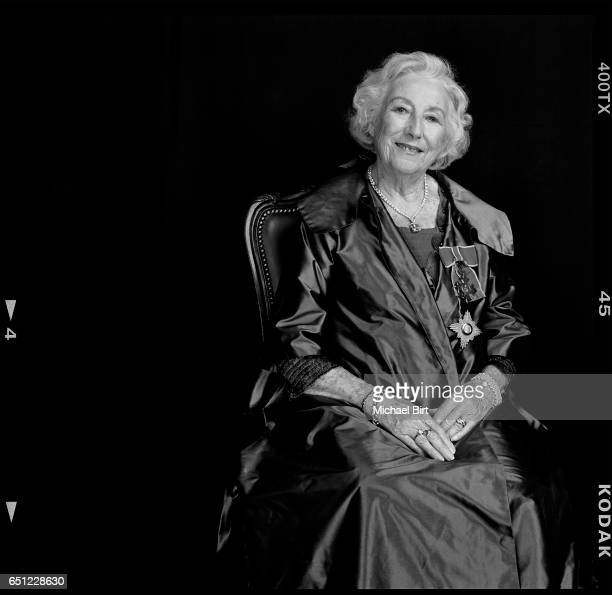 Singer songwriter and actor Dame Vera Lynn is photographed for Tatler magazine on June 9 2009 in London England