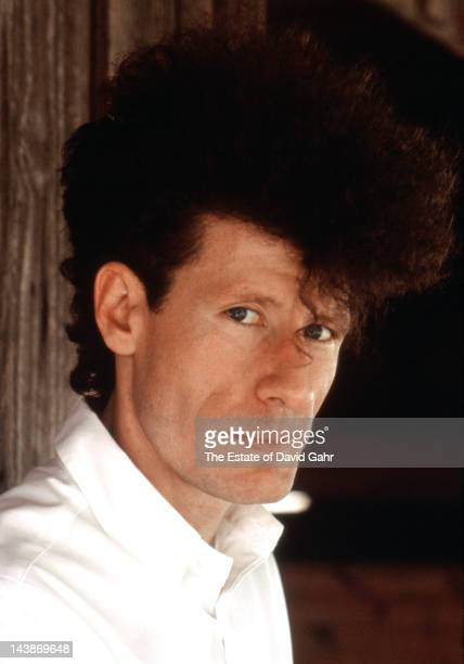 Singer songwriter and actor Lyle Lovett poses for a portrait at home in may 1988 in Klein Texas