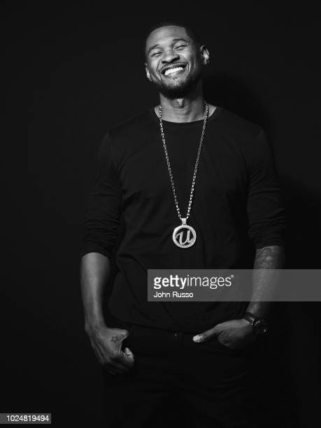 Singer songwriter and dancer Usher is photographed on February 6 2018 in Los Angeles California