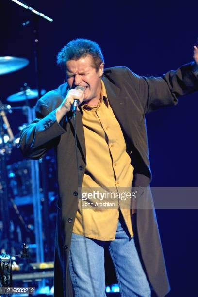 """Singer, songwriter and drummer Don Henley is shown performing on stage during a concert appearance on October 11, 2002. """"n""""n""""n""""n""""n"""