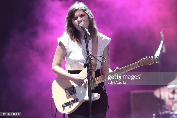 Singer songwriter and guitarist Bethany Cosentino is shown performing on stage during a live concert appearance with Best Coast on May 28 2011