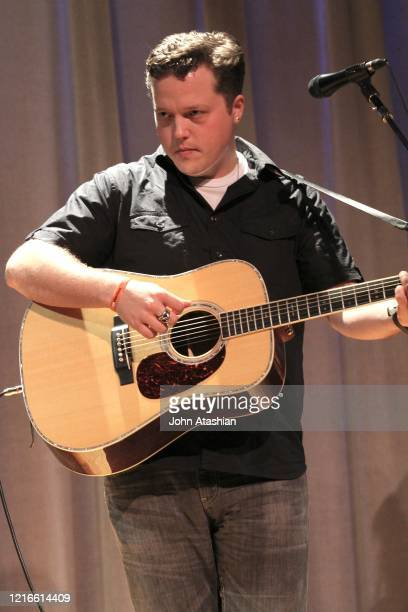 Singer songwriter and guitarist Jason Isbell is shown performing on stage during a live concert appearance on June 8 2012