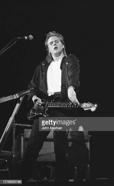 "Singer, songwriter and guitarist Jeff Healey is shown performing on stage during a ""live"" concert appearance on October 7, 1993."