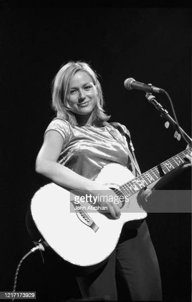 "Singer, songwriter and guitarist Jewel Kilcher generally known just by her first name Jewel, is shown performing on stage during a ""live"" concert..."