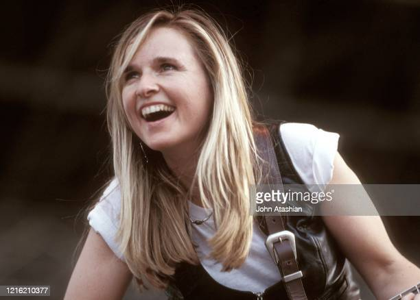 Singer songwriter and guitarist Melissa Etheridge is shown performing on stage during a live concert appearance on July 30 1989