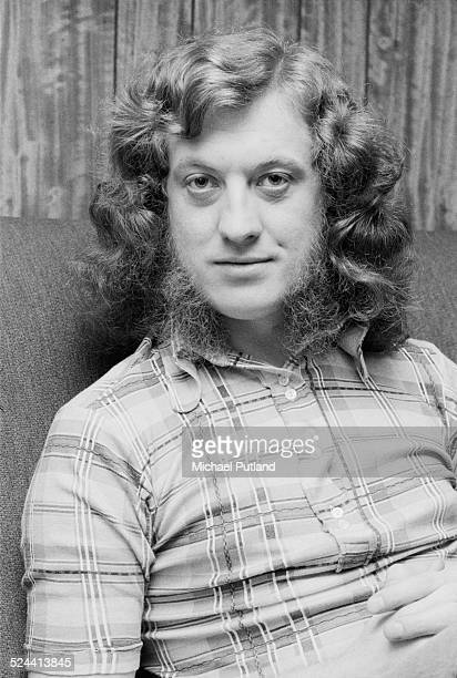 Singer songwriter and guitarist Noddy Holder of British rock group Slade backstage at the Rainbow Theatre in London during filming of 'Slade In...