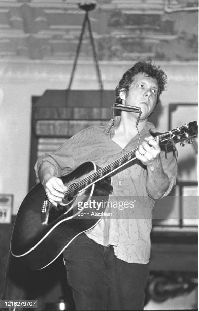 "Singer, songwriter and guitarist Steve Forbert is shown performing on stage during a ""live"" concert appearance on March 31, 1994."