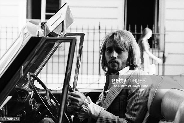 Singer songwriter and member of the musical trio the Bee Gees Maurice Gibb poses for a portrait in London England in July 1969