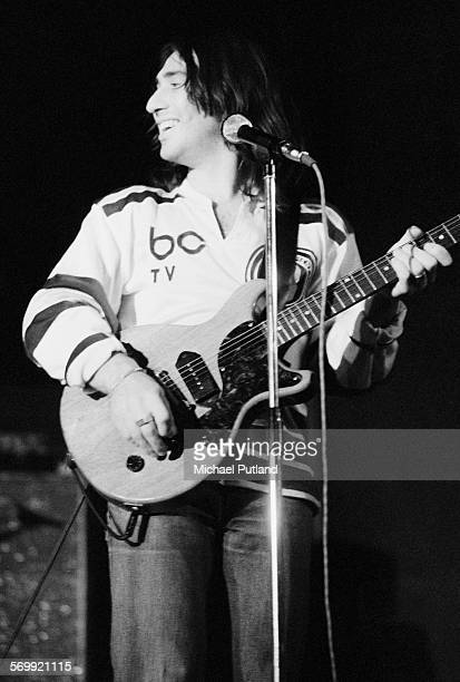 Singer songwriter and musician Lol Creme performing with English rock band 10cc March 1975