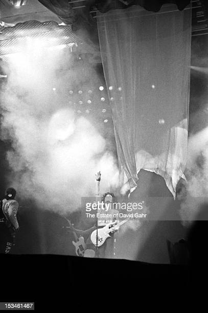 Singer songwriter and musician Prince performs at Madison Square Garden on October 2 1988 in New York City New York