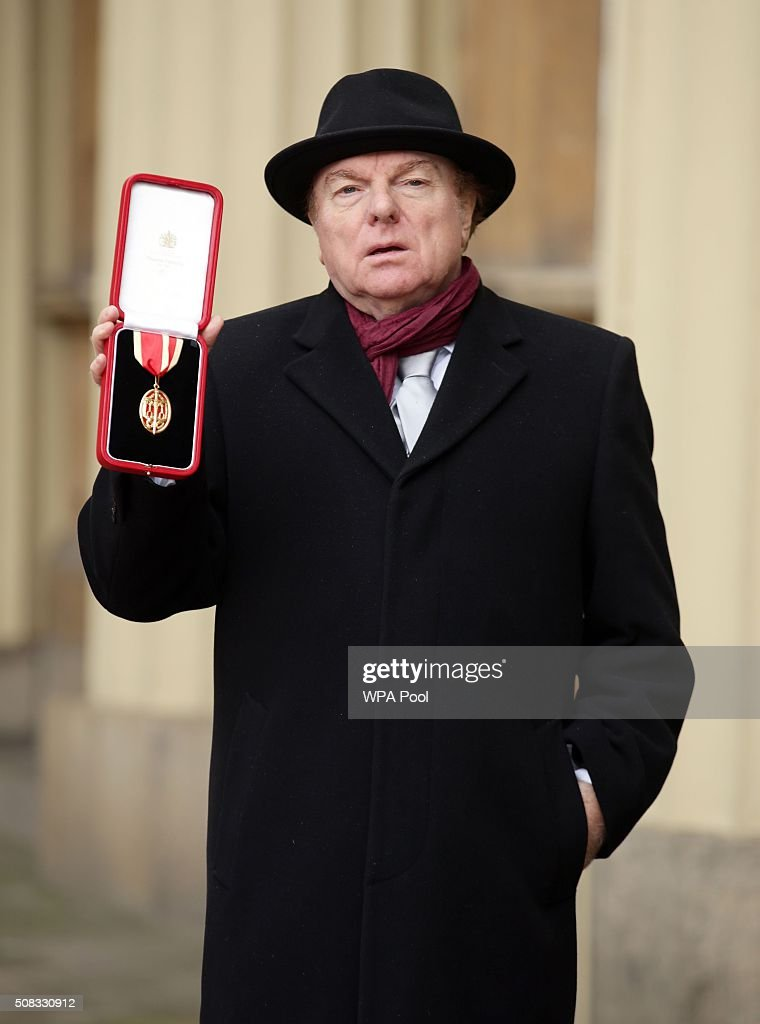 Singer, songwriter and musician Sir Van Morrison at Buckingham Palace, London, after being knighted by the Prince of Wales on February 4, 2016 in London, England.