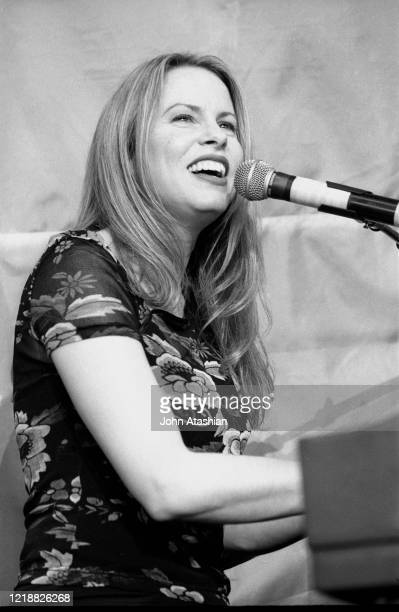 "Singer, songwriter and pianist Vonda Shepard, who appeared regularly in the television show Ally McBeal, is shown performing on stage during a ""live""..."