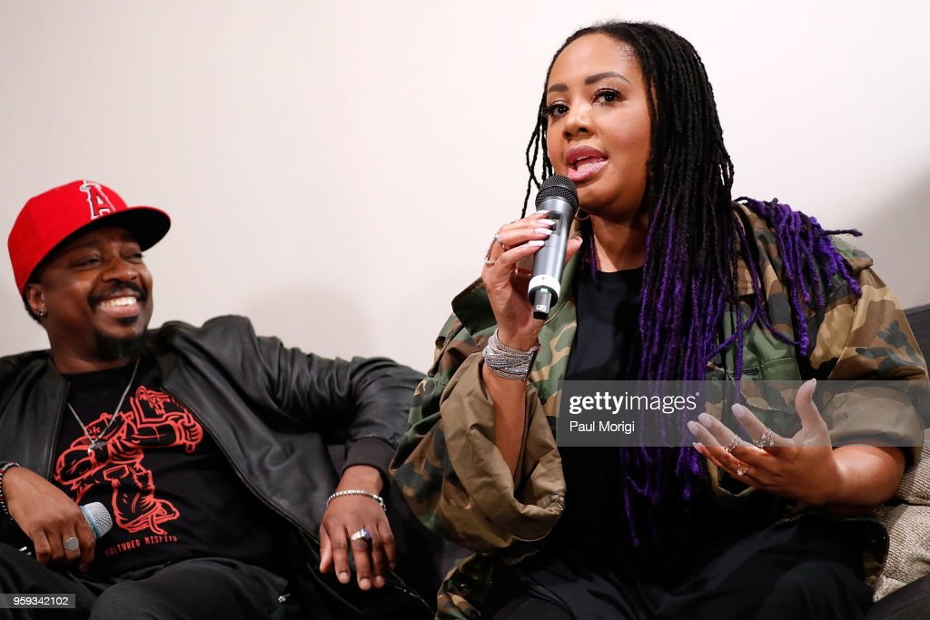 Singer, songwriter and producer Anthony Hamilton, and singer Lalah Hathaway participate in a panel discussion at the Vocal Health Clinic event hosted by The Recording Academy WDC Chapter and MusiCares at the National Union Building on May 16, 2018 in Washington, DC.