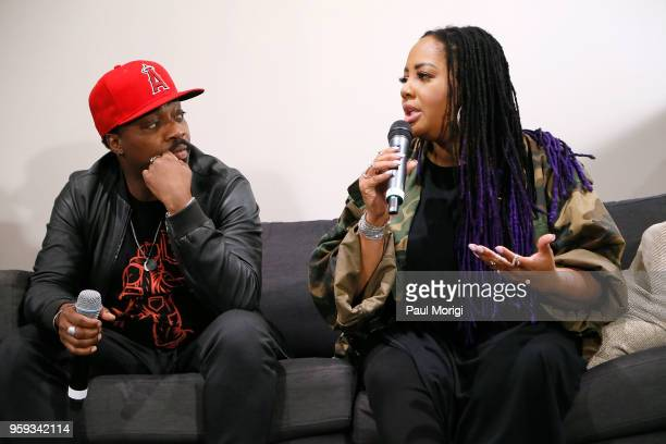 Singer songwriter and producer Anthony Hamilton and singer Lalah Hathaway participate in a panel discussion at the Vocal Health Clinic event hosted...