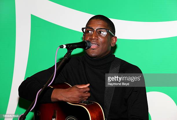 Singer songwriter and producer Labrinth is interviewed in the KISSFM Sprite Lounge in Chicago Illinois on OCTOBER 18 2013