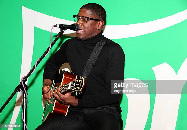 Singer songwriter and producer Labrinth performs in the KISSFM Sprite Lounge in Chicago Illinois on OCTOBER 18 2013