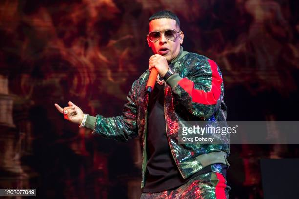 Singer songwriter and rapper Daddy Yankee performs at Calibash Las Vegas 2020 at the TMobile Arena on January 25 2020 in Las Vegas Nevada
