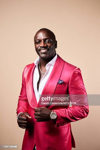 Singer songwriter and record producer Akon poses for a portrait at the MTV EMAs 2019 studio at FIBES Conference and Exhibition Centre on November 3...