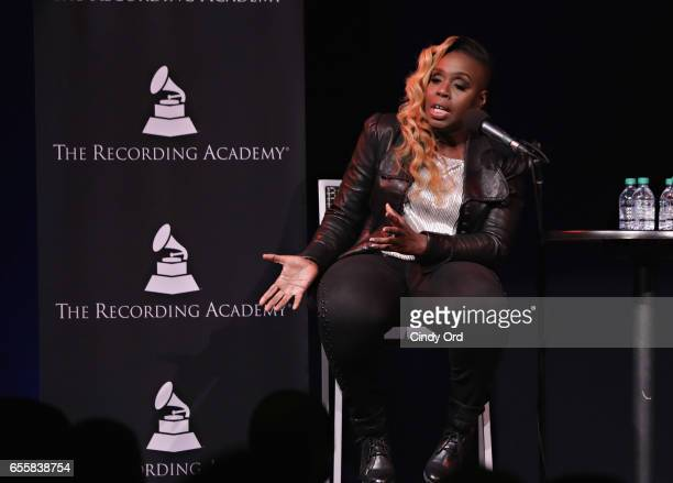 Singer/ songwriter Andrea Martin speaks during the GRAMMY Pro Songwriters Summit Women Making Music at The Apollo Theater on March 20 2017 in New...