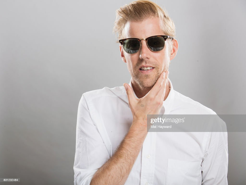 Singer songwriter Andrew McMahon poses for a portrait back stage during the Summer Camp Music Festival hosted by 107.7 The End at Marymoor Park on August 13, 2017 in Redmond, Washington.