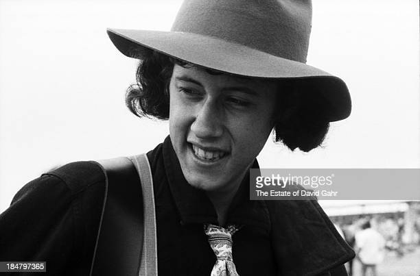 Singer songwriter Arlo Guthrie poses for a portrait before his debut performance at the Newport Folk Festival in July 1967 in Newport Rhode Island...
