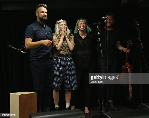 Singer/ songwriter Aurora performs at Mick Management on July 25 2016 in Brooklyn New York