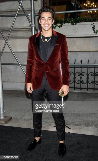 Singer songwriter Austin Mahone is seen arriving to Harper's BAZAAR ICONS Party at The Plaza Hotel on September 7 2018 in New York City