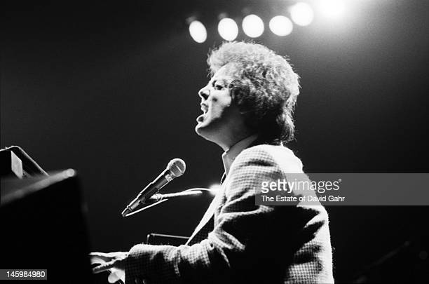 Singer songwriter Billy Joel performs at Madison Square Garden on December 24 1978 in New York City New York