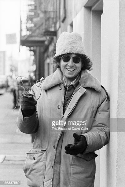 Singer songwriter Bob Dylan poses for a portrait on December 2 1971 on East 4th Street in the East Village New York City New York