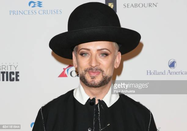 Singer / Songwriter Boy George attends the red carpet event for NBC's 'Celebrity Apprentice' at Westin Bonaventure Hotel on March 2 2016 in Los...