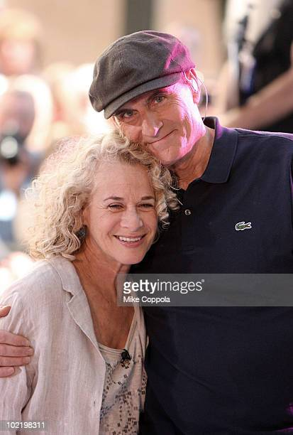 Singer/ songwriter Carole King and musician James Taylor perform on NBC's 'Today' at Rockefeller Center on June 18 2010 in New York City