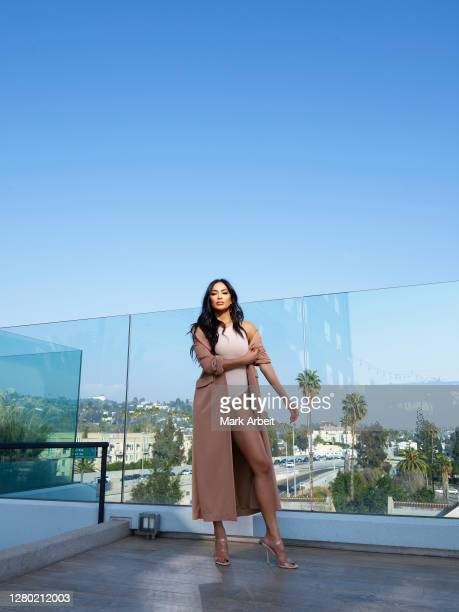 Singer songwriter dancer and television personality Nicole Scherzinger is photographed for Hi Luxury Magazine on February 19 2020 at Kimpton Everly...