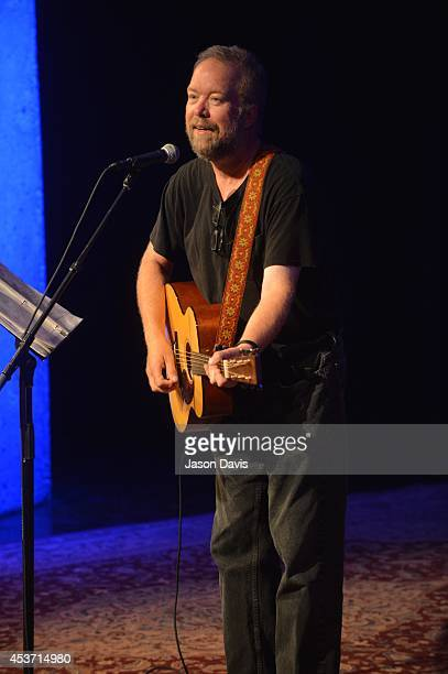 Singer Songwriter Don Schlitz performs in the Ford Theater at The Country Music Hall of Fame and Museum on August 16, 2014 in Nashville, Tennessee.