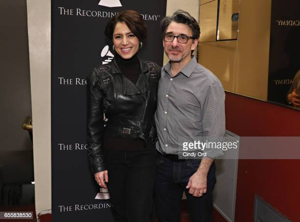 Singer/ songwriter Emily King and New York Chapter of The Recording Academy Executive Director Nick Cucci attend the GRAMMY Pro Songwriters Summit...