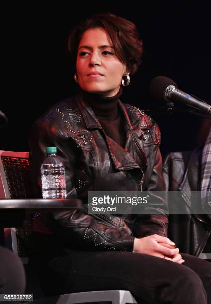 Singer/ songwriter Emily King speaks during the GRAMMY Pro Songwriters Summit Women Making Music at The Apollo Theater on March 20 2017 in New York...