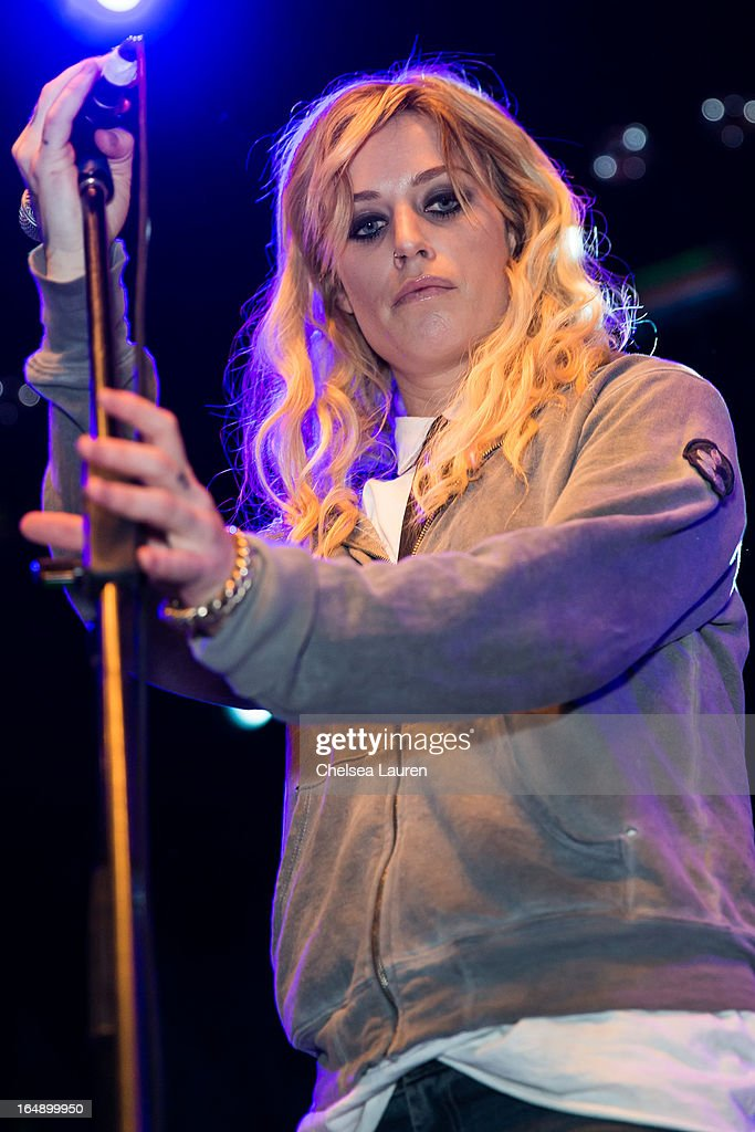 Singer / songwriter Gin Wigmore performs at the Vans Warped Tour press conference and kick-off party at Club Nokia on March 28, 2013 in Los Angeles, California.