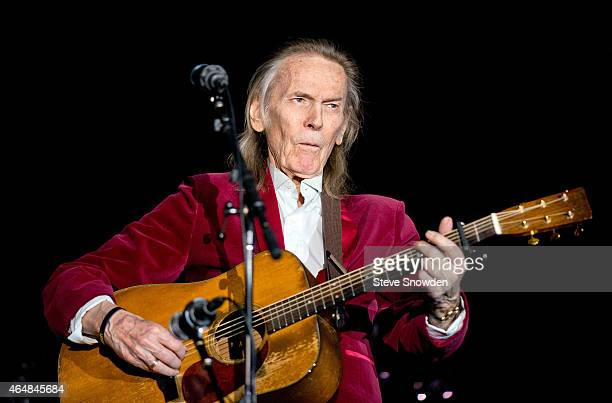 Singer / Songwriter Gordon Lightfoot performs on stage at Route 66 Casinos Legends Theater on February 28 2015 in Albuquerque New Mexico