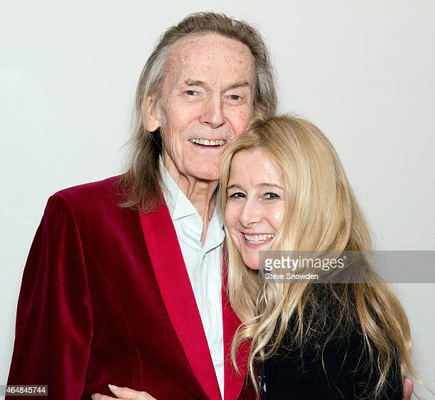 Singer / Songwriter Gordon Lightfoot poses backstage with his wife Kim following his performance at Route 66 Casinos Legends Theater on February 28...