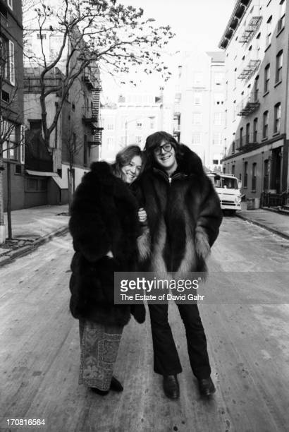 Singer songwriter guitarist autoharpist and founding member of the folk rock group The Lovin' Spoonful John Sebastian and his wife Lori pose for a...