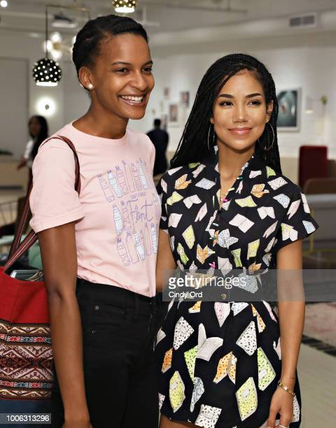 Singer/ songwriter Jhene Aiko meets attendees during the Jhene Aiko Trip Film 2Fish book signing on July 26 2018 in New York City