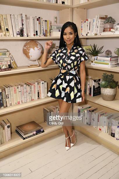Singer/ songwriter Jhene Aiko poses for a photo at the Jhene Aiko Trip Film 2Fish book signing on July 26 2018 in New York City