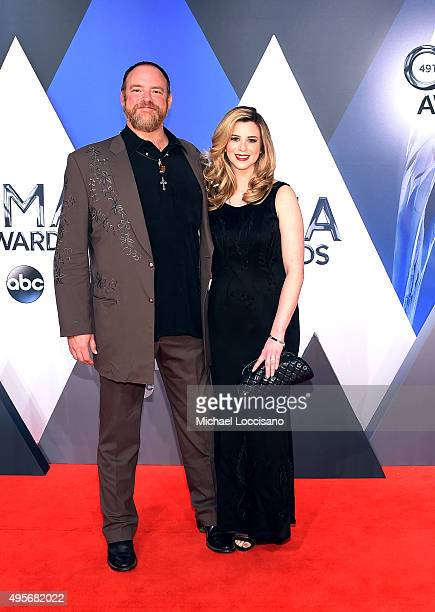 Singer- songwriter John Carter Cash and singer/songwriter and fiancee Ana Cristina attend the 49th annual CMA Awards at the Bridgestone Arena on...