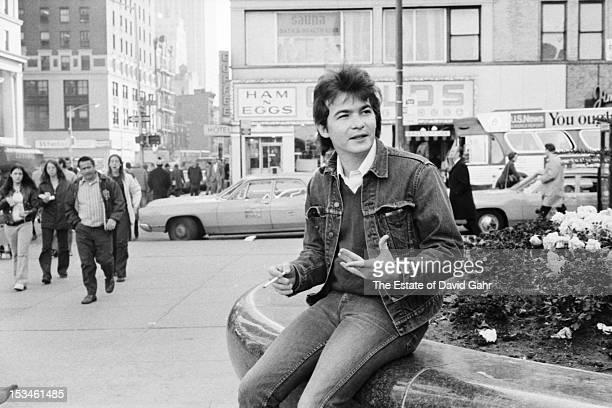 Singer songwriter John Prine poses for a portrait on November 5 1972 in New York City New York