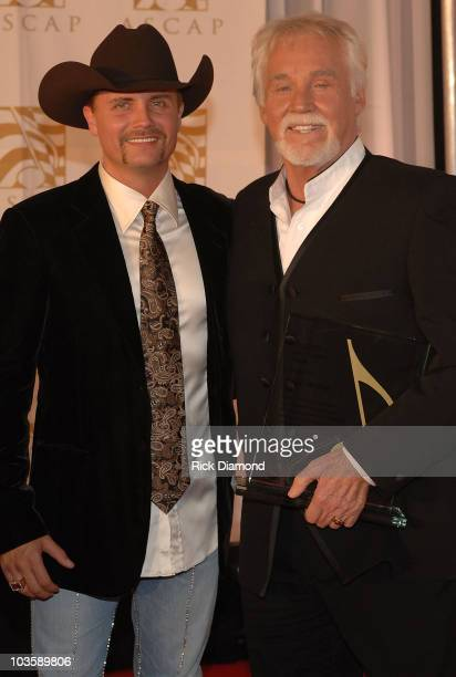 Singer Songwriter John Rich of Big Rich and Singer/Actor Kenny Rogers arrive at The Ryman Auditorium for 45th Annual ASCAP Country Music Awards in...