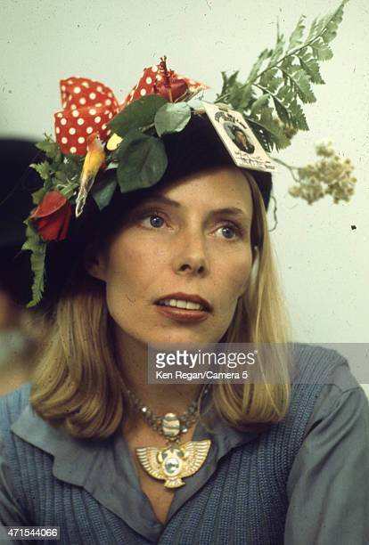 Singer songwriter Joni Mitchell photographed during the Rolling Thunder Revue on January 1 in New York City