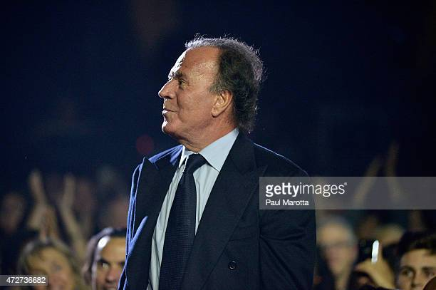 Singer songwriter Julio Iglesias is recognized at the Berklee College of Music Commencement Concert the night before receiving an honorary degree at...