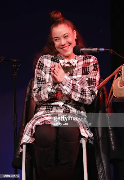 Singer/ songwriter Kendra Foster speaks during the GRAMMY Pro Songwriters Summit Women Making Music at The Apollo Theater on March 20 2017 in New...