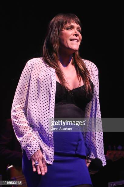 """Singer, songwriter & keyboardist Beth Hart is shown performing on stage during a """"live"""" concert appearance on February 24, 2015."""
