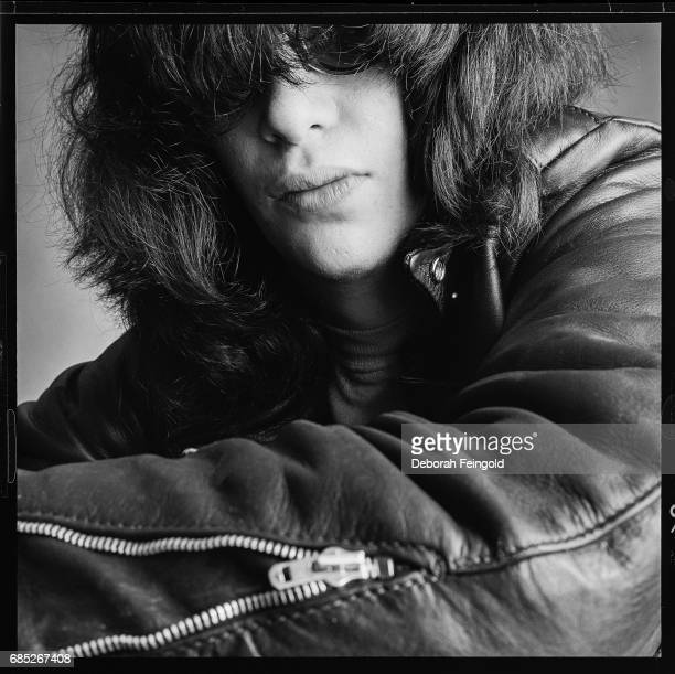 Singer songwriter lead vocalist of the Ramones Joey Ramone poses for a portrait in 1983 in New York City New York